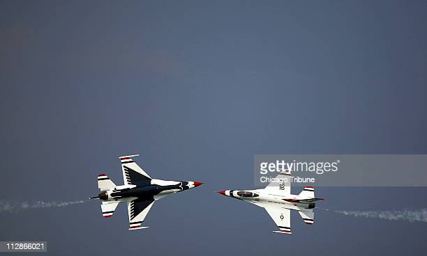 US Air Force Thunderbirds perform during the Chicago Air and Water Show in Chicago Illinois Saturday August 15 2009