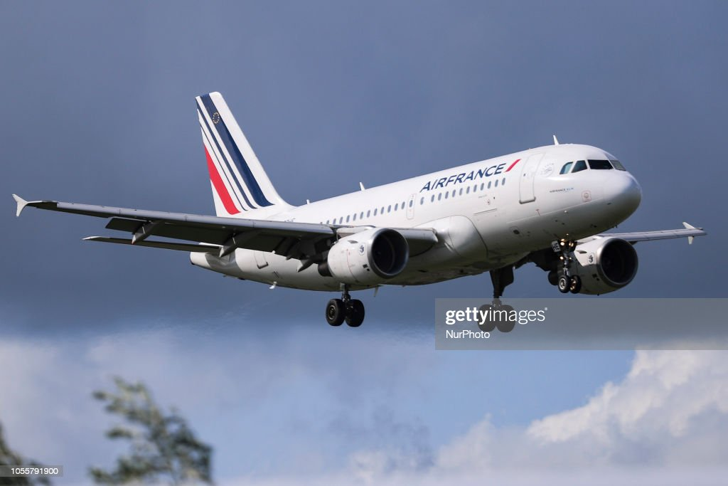 air france airbus a319 100 with registration f grhe landing at