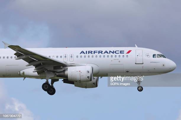 Air France Airbus A320200 with registration FHEPA seen landing at the Amsterdam Schiphol International Airport in The Netherlands The aircraft has...