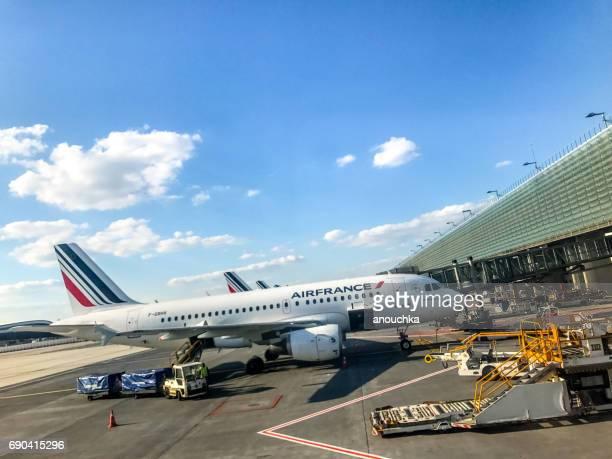Air France Airplane at Charles de Gaulle Airport, Paris, France