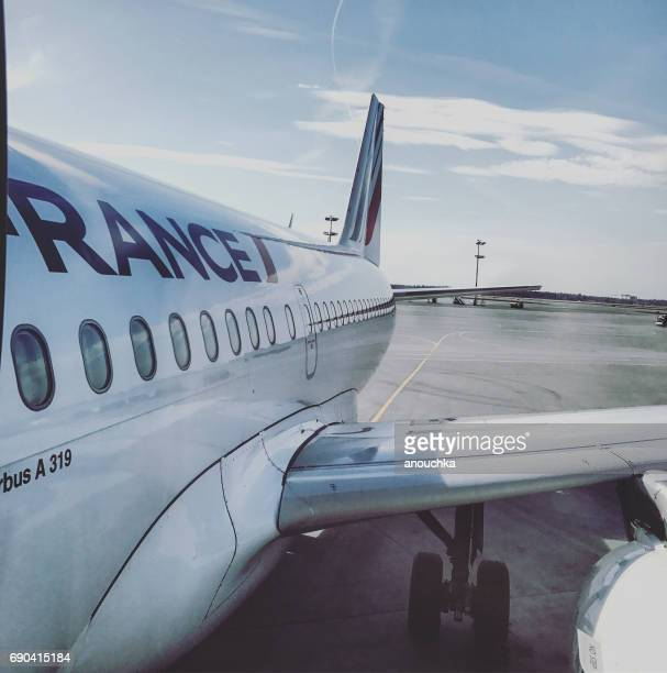 Air France Airplane at Sheremetyevo airport, Moscow, Russia