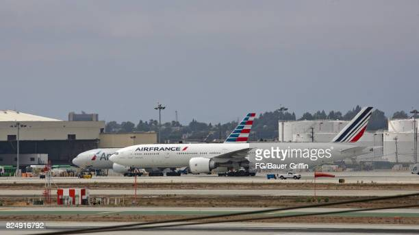 Air France Boeing 777 at Los Angeles International Airport on July 30 2017 in Los Angeles California