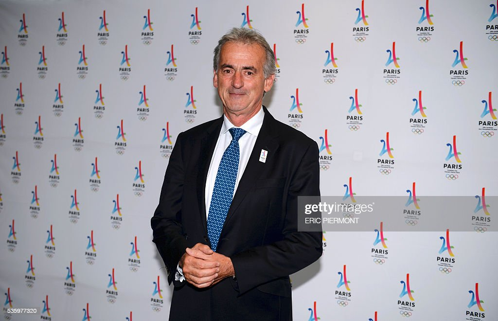 Air France Chairman and Chief Executive Officer Frederic Gagey poses during a meeting gathering French companies and official partners of Paris candidate for the 2024 Summer Olympic games on May 30, 2016 in Paris. / AFP / ERIC