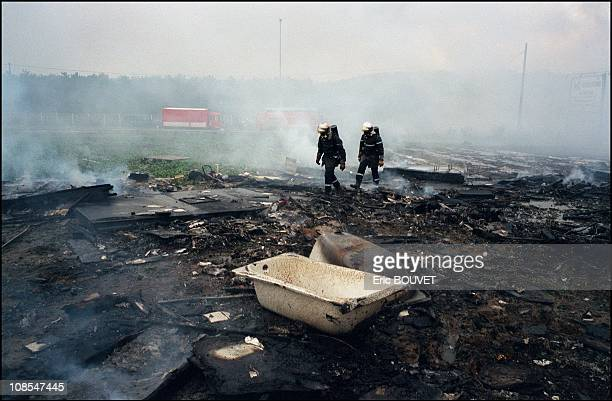 Air France Concorde jet crashes near Paris in Gonesse France on July 25th 2000