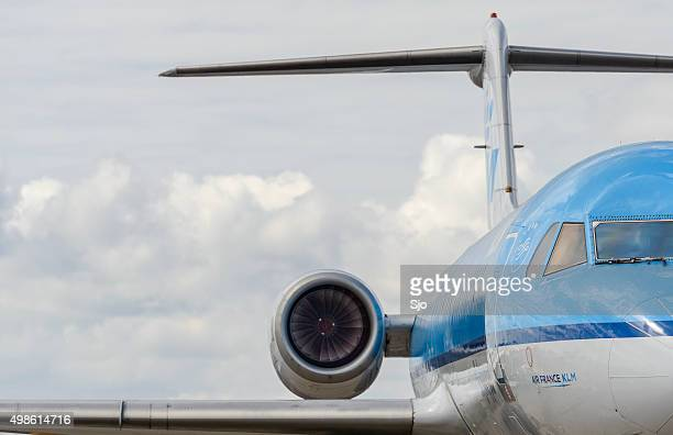 Air France KLM airplane close up