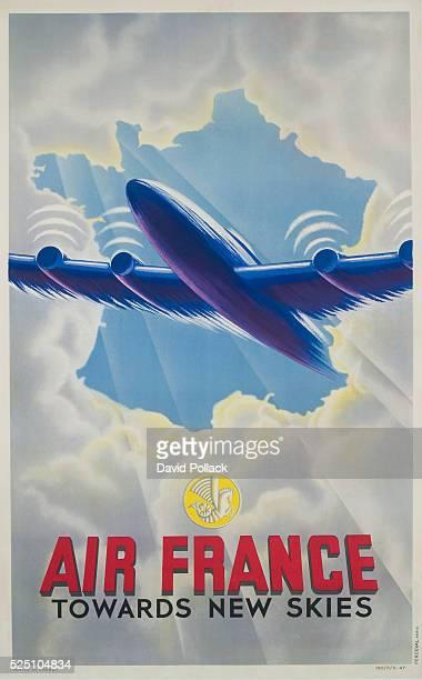 Air France Towards New Skies Poster