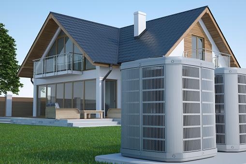 Air heat pump and house 1181009720