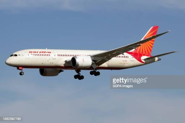 Air India Boeing 7878 Dreamliner seen landing at London Heathrow airport