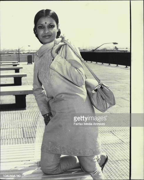 Air India flight hostess Heather Butler 22 of Bangalore shown at Mascot waiting for her Perth flight to depart Heather presently based in Perth flies...