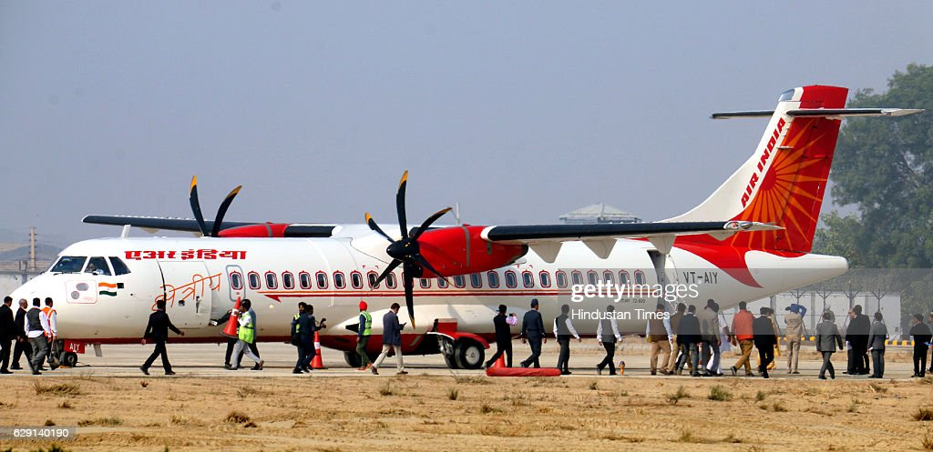 Air India flight reaches Bathinda on the occasion to mark starting of flights from Bathinda Civilian Airport in Virk Kalan village on December 11...