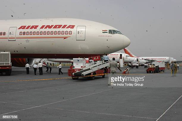Air India welcomes the New Boeing 737800 VTAXH to its own fleet at Indira Gandhi International Airport in New Delhi India