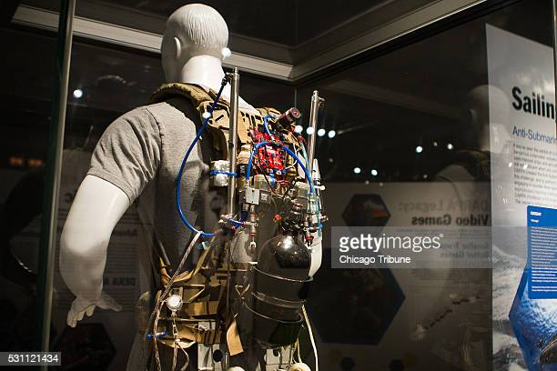 Air Legs a machine that reduces the amount of energy needed to walk and run is on display at DARPA Redefining Possible which opens at The Museum of...