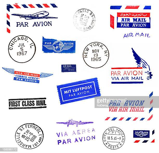 Air Mail and World Cities Postmarks