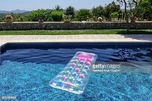 Air Mattress Floating On Swimming Pool