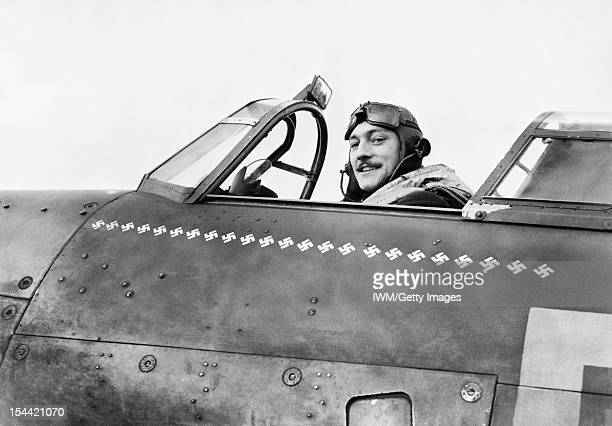 Air Ministry Second World War Official Collection Squadron Leader Robert Stanford Tuck commanding No 257 Squadron in the cockpit of his Hawker...