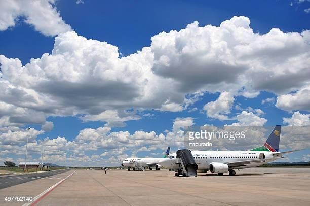 Air Namibia Flugzeuge am Flughafen geparkt Windhoek