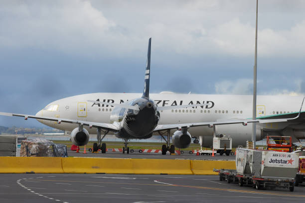 NZL: Arrivals at Auckland Airport as Quarantine-Free Travel Starts Between Australia and New Zealand