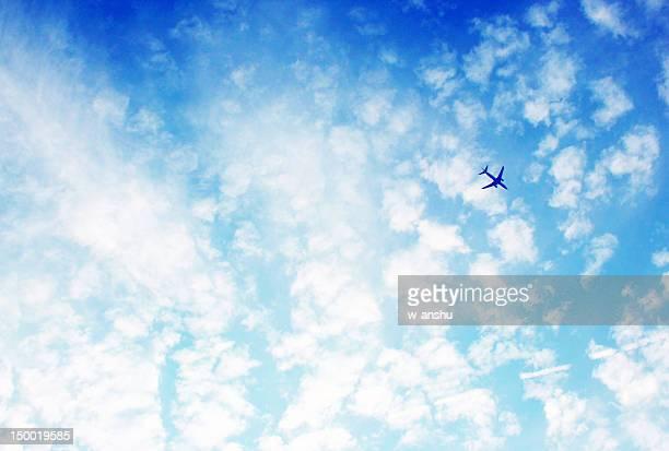 Air plane flying in sky