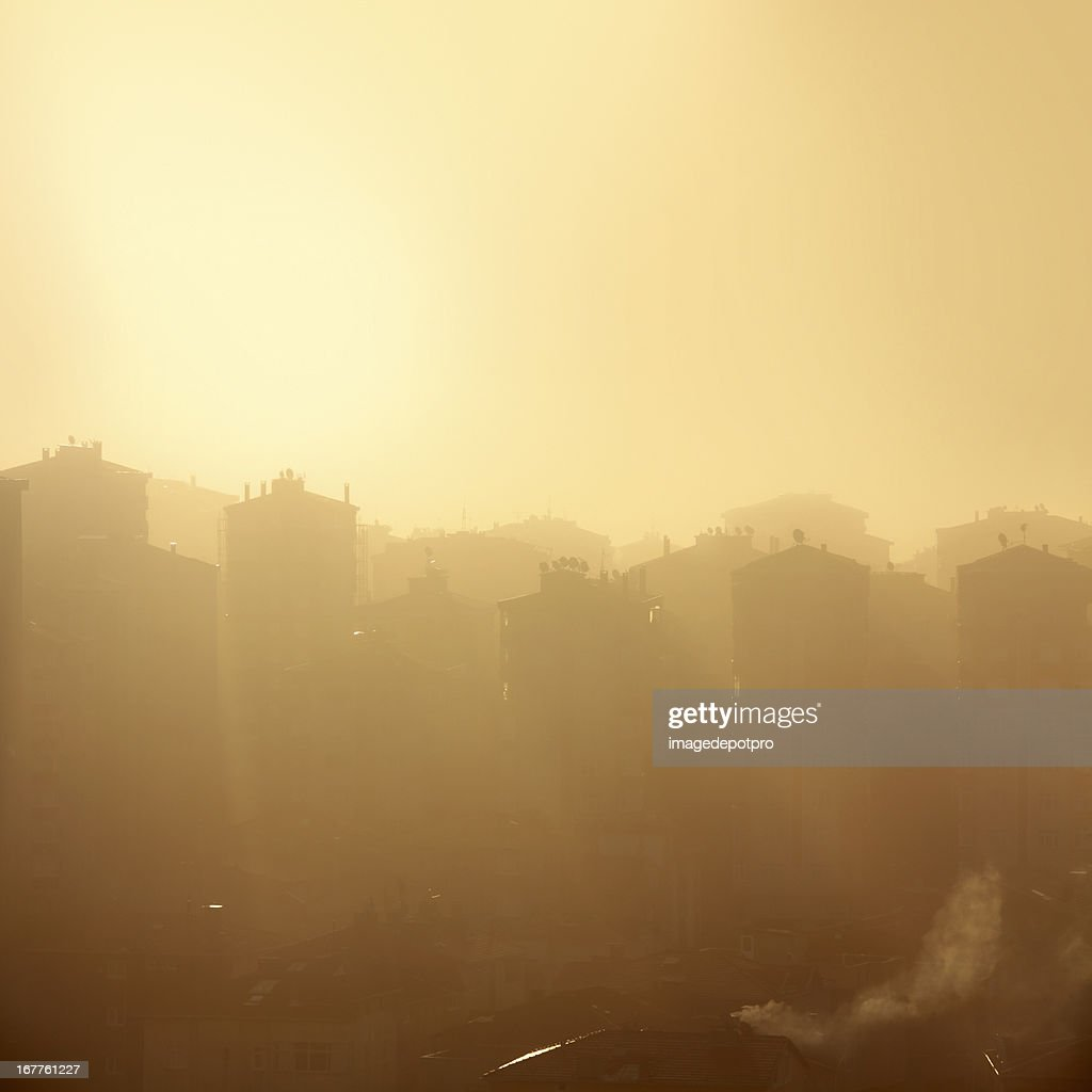 air pollution city : Stock Photo