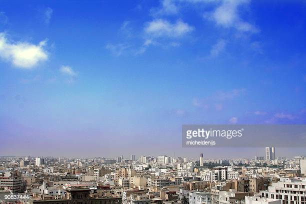 air pollution city - casablanca stock pictures, royalty-free photos & images