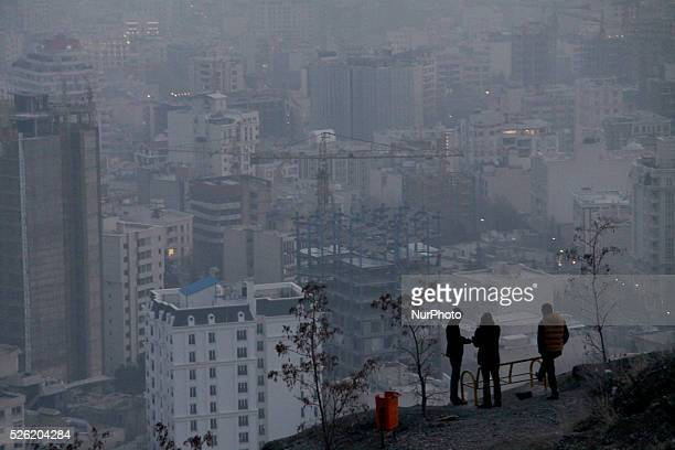 Air pollution continues to hover over the Iranian capital of Tehran on December 29 2015 Two soccer games were cancelled this weekend as the pollution...