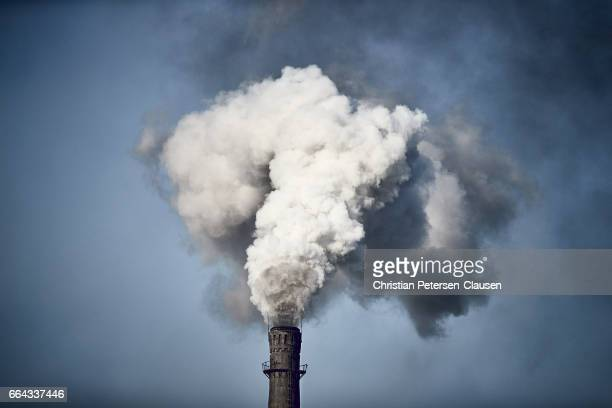 Air Pollution from Chinese factory chimney