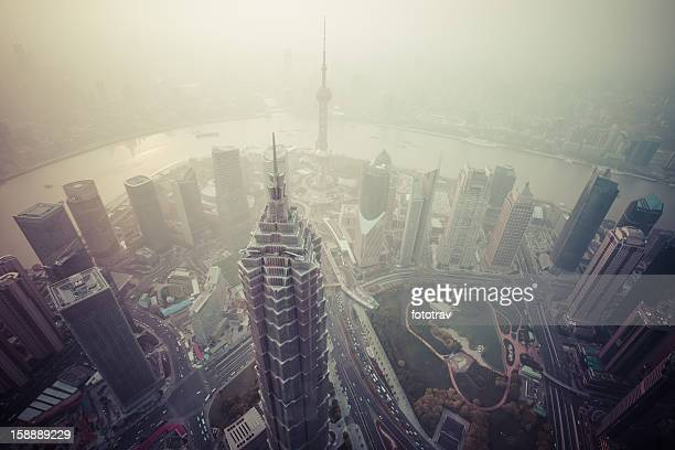 Air pollution in Shanghai, China