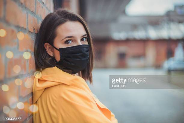 air pollution in the city - respirator mask stock pictures, royalty-free photos & images