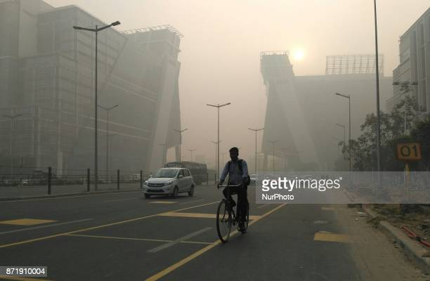Air pollution levels in the national capital New Delhi India continued to be severe on November 8 2017 as dense smog engulfed the city and...