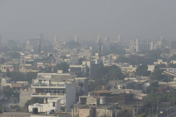 Air pollution over the city of Jalandhar on October 20 the day after the Diwali Festival / AFP PHOTO / SHAMMI MEHRA