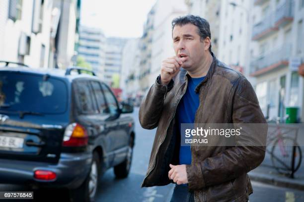 air pollution - coughing stock photos and pictures