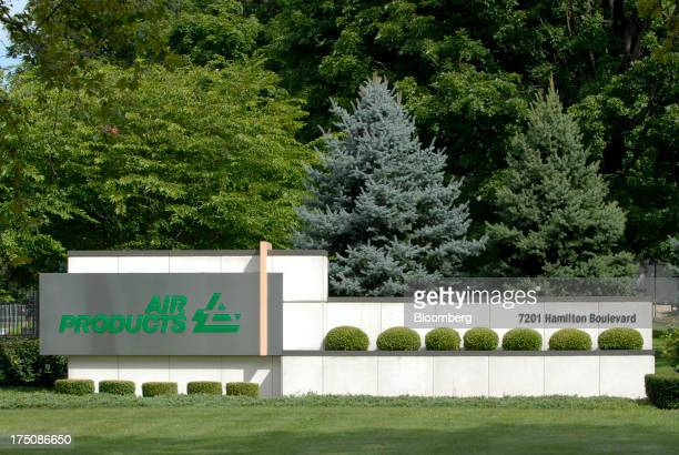 Air Products & Chemicals Inc. Signage stands outside the company's headquarters in Allentown, Pennsylvania, U.S., on Wednesday, July 31, 2013....