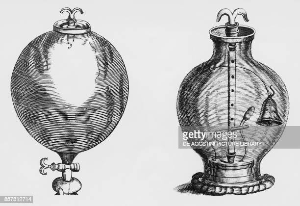 Air pump experiment by Robert Boyle engraving
