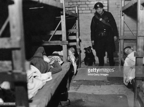Air Raid Precautions Dog At Work In Poplar London England Rip the dog and ARP Warden Angelus visit an air raid shelter in Poplar London December 1941...