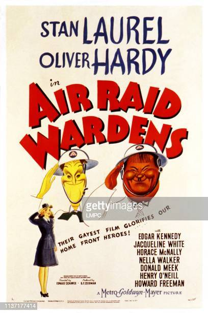 Air Raid Wardens poster Stan Laurel Oliver Hardy [Laurel and Hardy] 1943