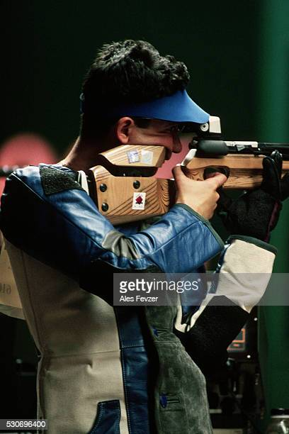 air rifle competition, 1996 olympic games - 1996 summer olympics atlanta stock pictures, royalty-free photos & images