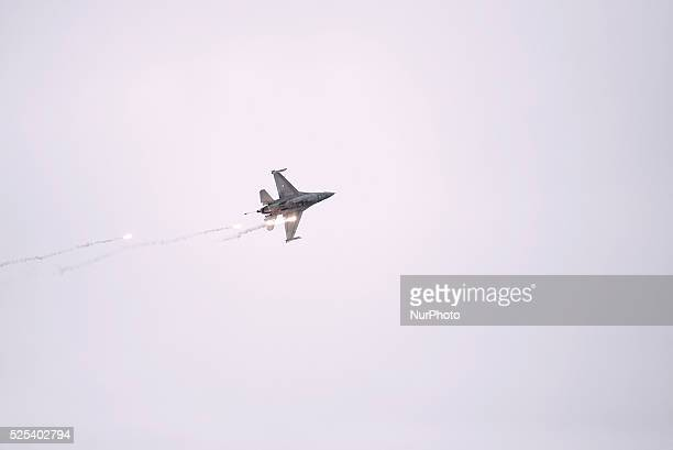 Air Show in Thessaloniki by the Hellenic Air Force F16 Zeus acrobatic team due to the celebrations of the 28th of October anniversary the date that...