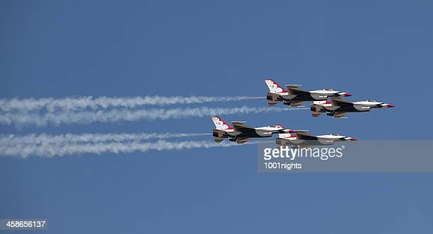 air show turkey 2011 - air force thunderbirds stock pictures, royalty-free photos & images