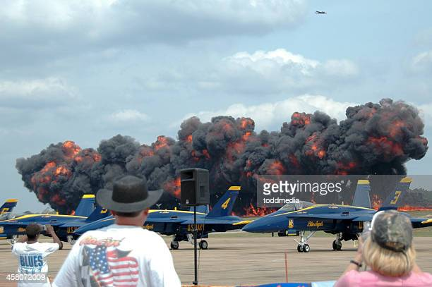 "air show ""wall of fire"" - napalm stock photos and pictures"