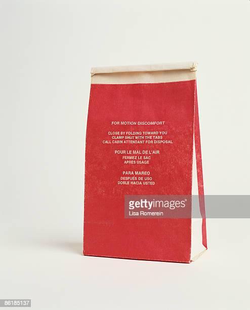 air sick bag - sick bag stock photos and pictures