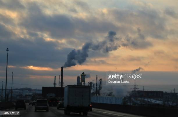 air smog filling the sky - acid rain stock pictures, royalty-free photos & images