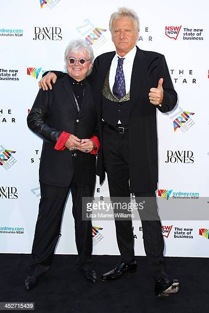 Air Supply arrive at the 27th Annual ARIA Awards 2013 at the Star on December 1 2013 in Sydney Australia