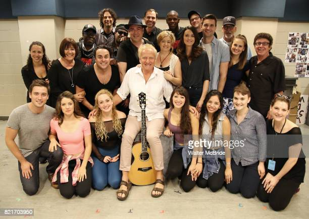 Air Supply band member Graham Russell center with the cast and creative team for the Wall Premiere musical presention of his show 'A Wall Apart'...