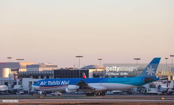 Air Tahiti Nui Airbus A340 at Los Angeles International Airport on December 28 2017 in Los Angeles California