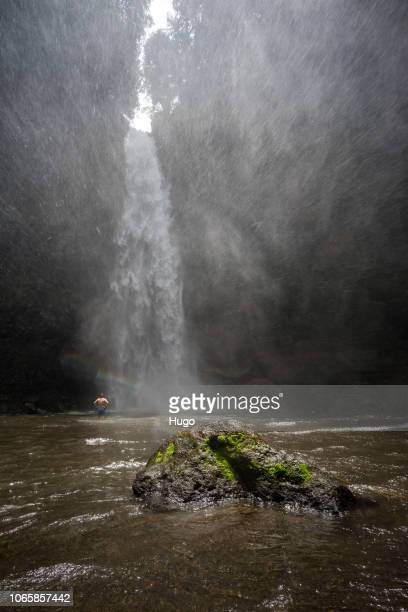air terjun nungnung - volcanic terrain stock pictures, royalty-free photos & images