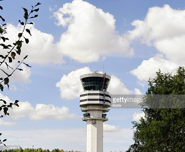 Air traffic control tower at Brussels Airport,Belgium
