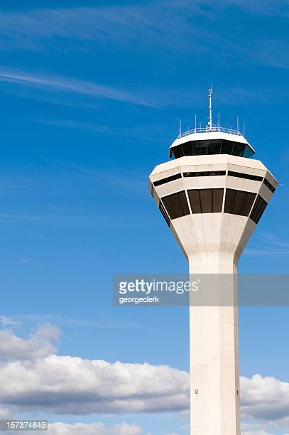 air traffic control tower - tower stock pictures, royalty-free photos & images