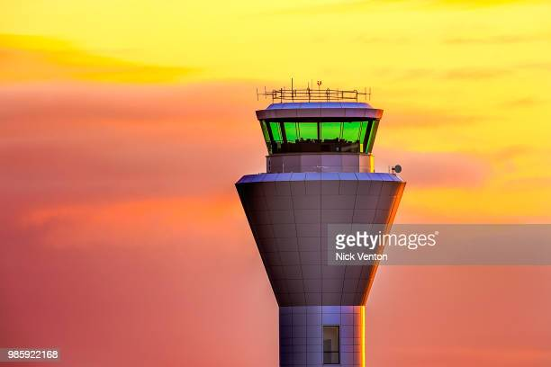 air traffic control tower - control tower stock pictures, royalty-free photos & images