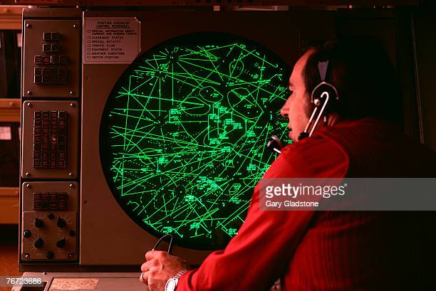 Air traffic controller with a monitor
