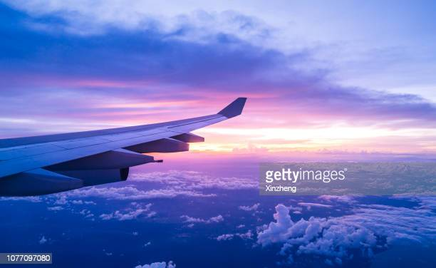 air travel - aircraft wing stock pictures, royalty-free photos & images